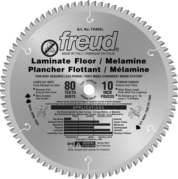 10 In Laminate Flooring Blade 80 Teeth Home Improvement Diy