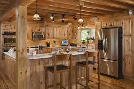 rustic kitchen cabinets michelle fries design burned wooden unique classic pendant lamps closed folding