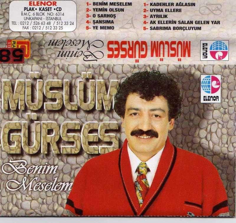 Müslüm Gürses Benim Meselem albüm kapağı