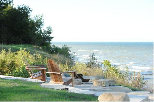 Landscape Design For Lake View Google Search Backyard Retaining Walls Backyard Patio Designs Backyard