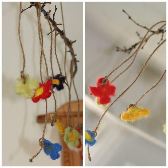 Kurz und gut - unsere Familiennotizen: Blumenmobile