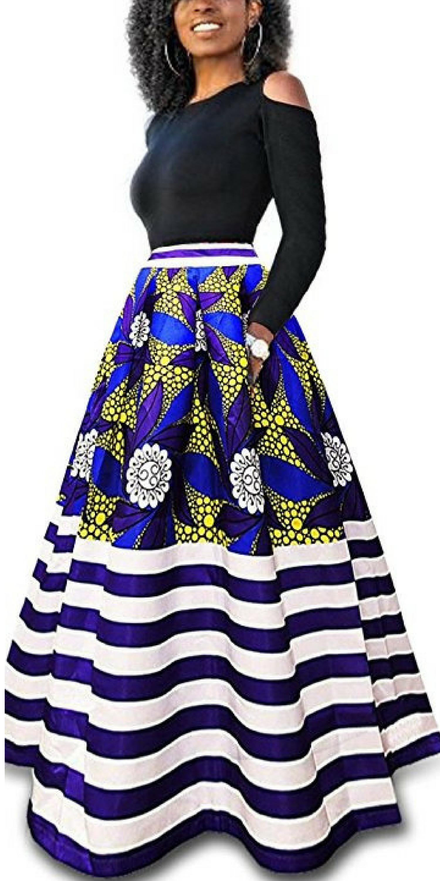 291f3658a9 Nice Women s African Floral Print A Line Long Skirt  ad  womenfashion   fashion  africanfashion  africanprints