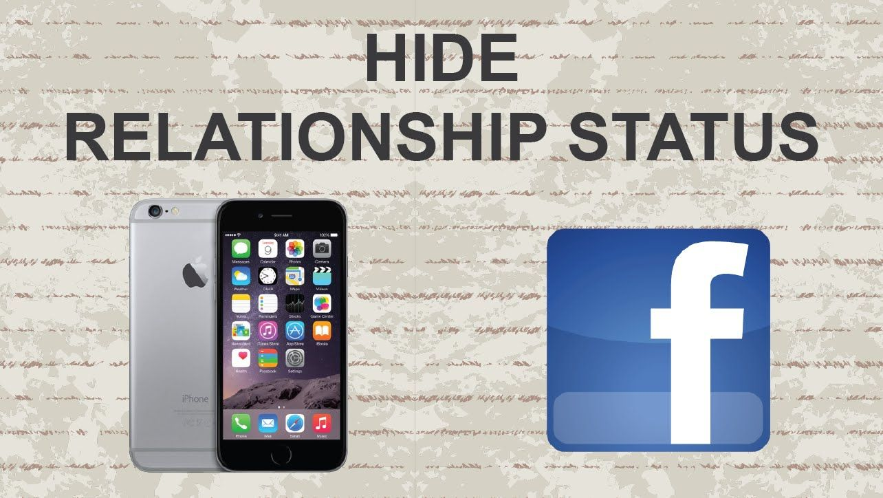 How To Hide Relationship Status On Facebook Mobile Facebook