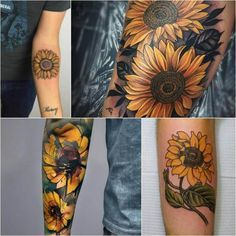 Sunflower Tattoo Meaning - Popular Sunflower Tattoo Ideas for Women and Men