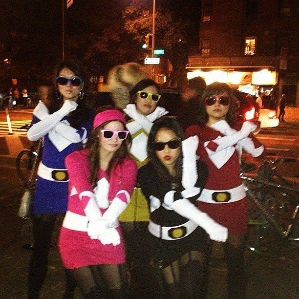 band together to battle evil as a group of power rangers image source instagram girl group halloween costumeslast - Band Halloween Costumes