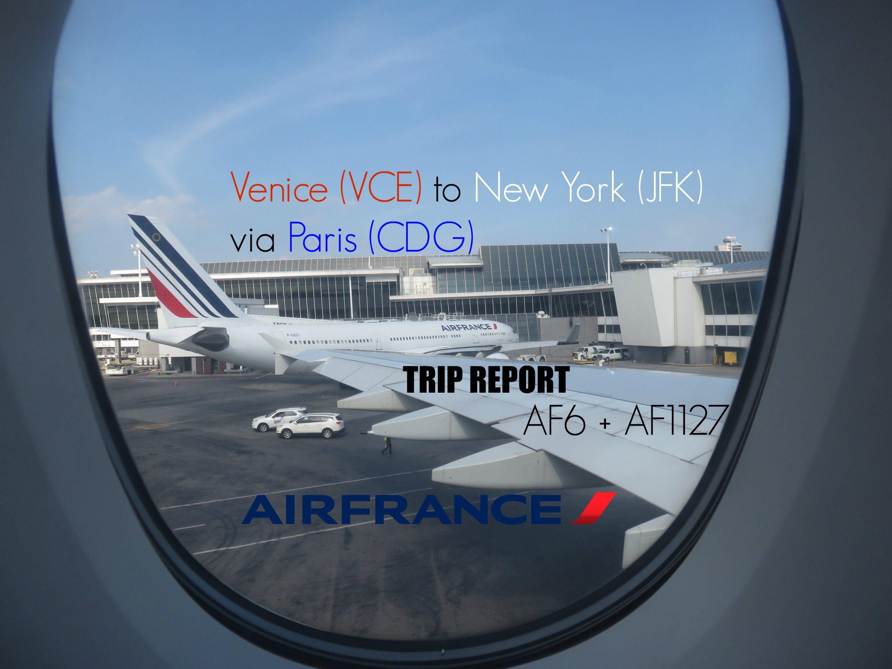 Air France (AF1127 + AF6) I VCECDGJFK I Economy Flex