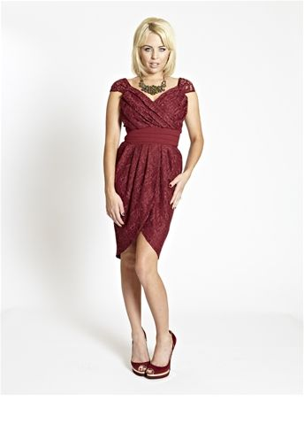 Lydia bright tulip dress in lace