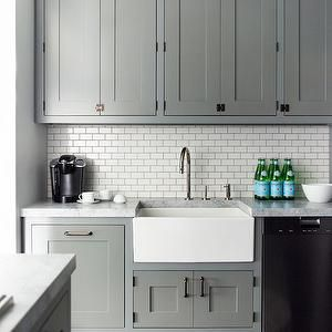 Contemporary Kitchen Cabinets Grey grey kitchen cabinets, contemporary, kitchen, farrow and ball