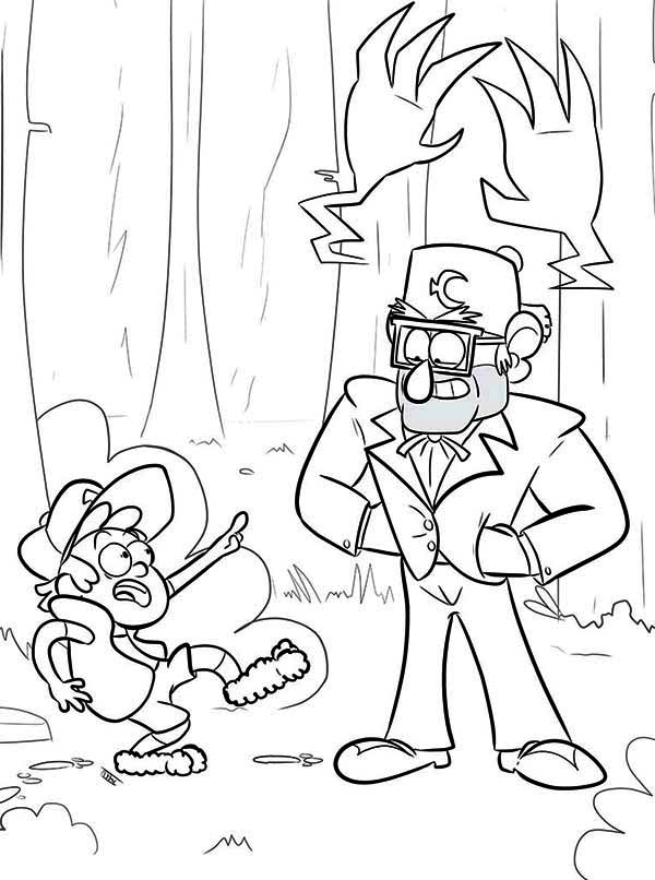 Dipper Pines And Grunkle Stan Gravity Falls Coloring Page Kids Play Color In 2020 Fall Coloring Pages Coloring Pages Coloring Books