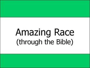 "This idea is taken from the show ""The Amazing Race."" Split the kids into teams of 2-4 depending on how big the group is, and give each team only one Bible one pen and one question sheet. Each team must race through the Bible looking for answers to the Bible trivia question on the question sheet. After they have completed the sheet (correctly) they must then go to the ""Detour."" A detour is a task that one team member must do to get the second set of questions. ..."