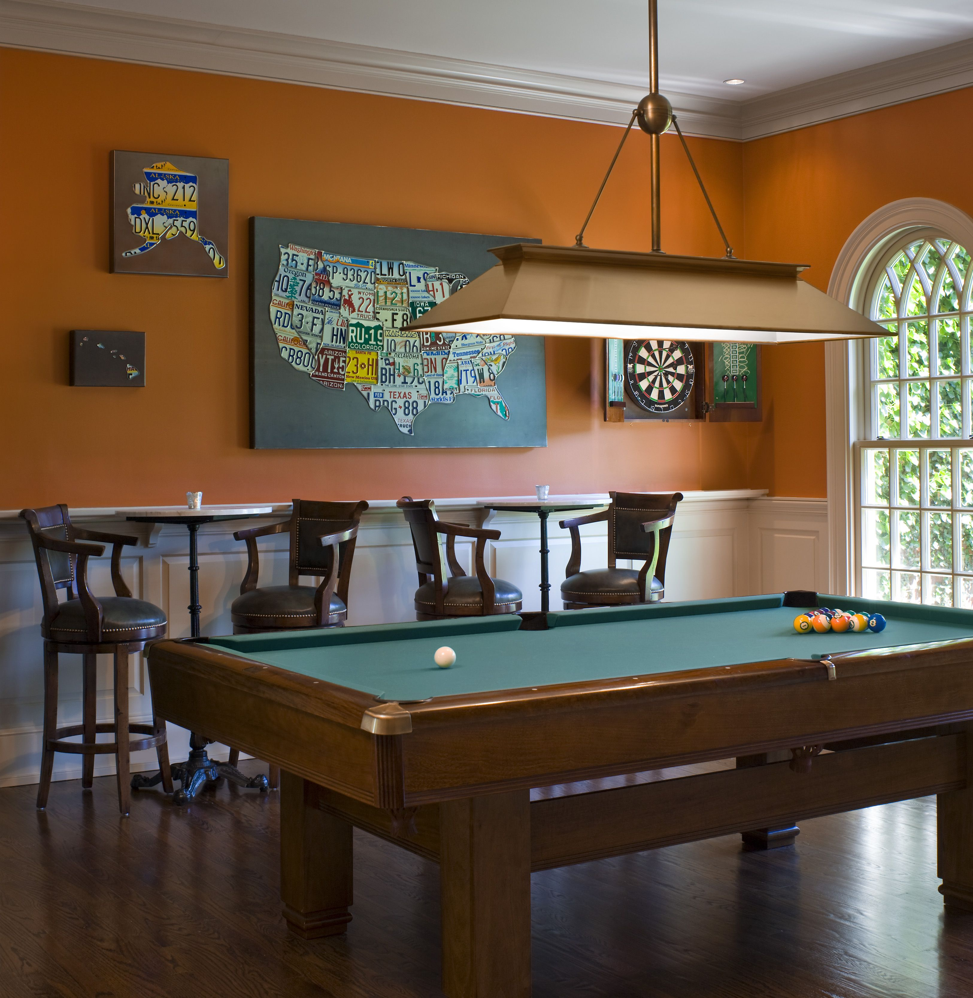 If you have a game room or recreation area in your home, it's important to have good lighting. Pin by Tammy Marconi on Basement Bar | Pool table room ...