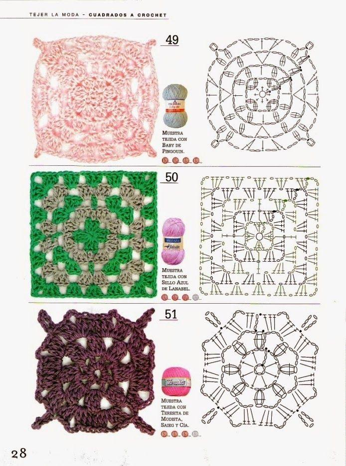 Inspirações de Croche com Any Lucy | puntos motivos | Pinterest ...