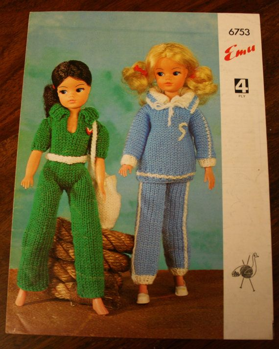 Vintage Emu Pattern For Sindy Doll Outfits So Cute Sindy