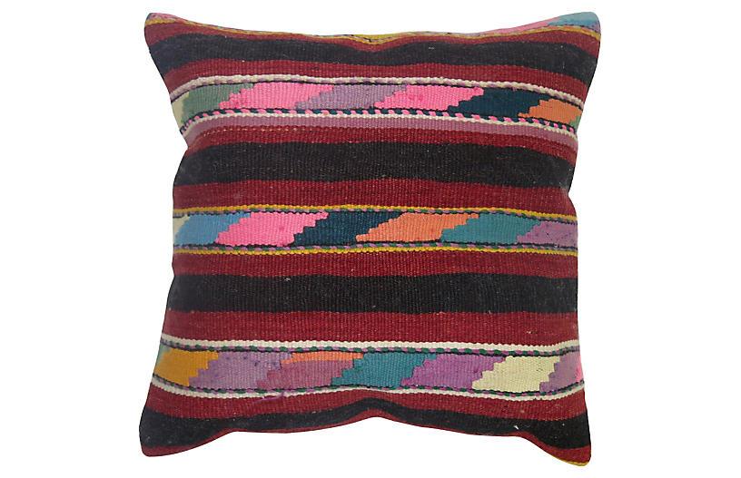 Multi Striped Kilim Pillow J D Oriental Rugs