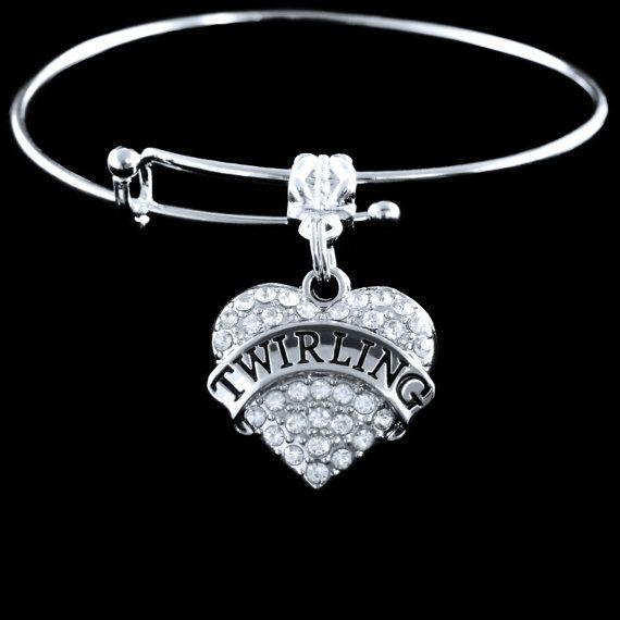 twirling bracelet twirler bangle twirl jewelry twirling present Band gift