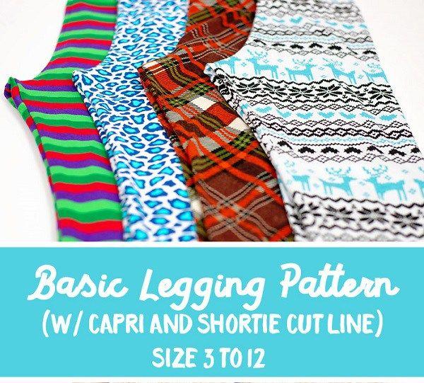 Free pattern: Girls basic leggings, capris, and shorties   Annika ...