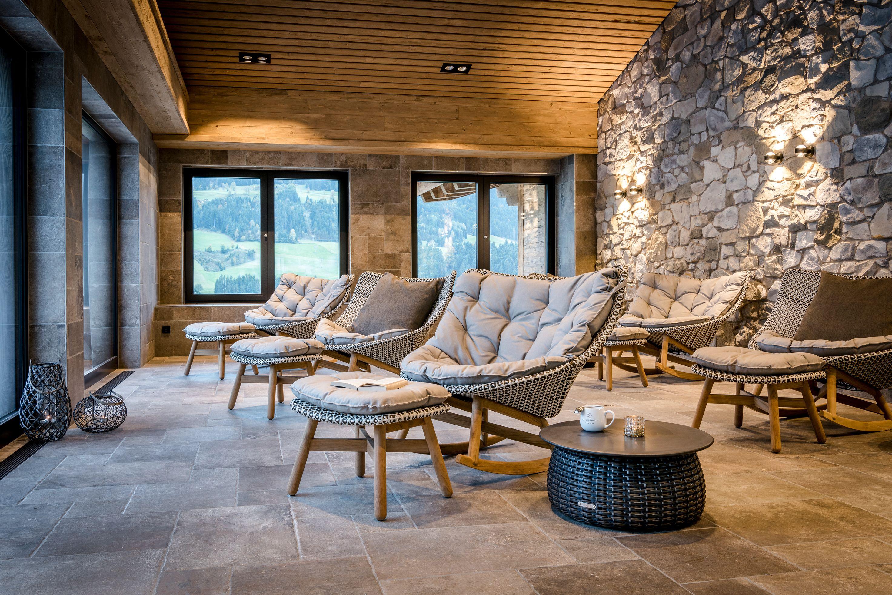 Kaiserlodge Am Berg Am See Seelig Spa Wellness Spa Pool Entspannung Dedon Erholung Scheffau Tirol Mobeldesign Haus Deko Innenarchitektur