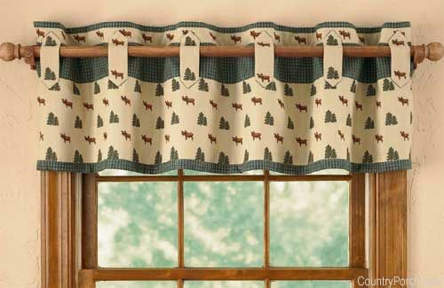 cute country kitchen curtain idea but I would definitely