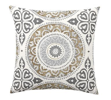 Indoor/Outdoor Leona Medallion Pillow,20\