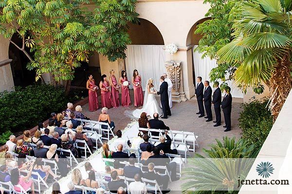 Ceremony At Casa Del Prado Patio A In Balboa Park San Go