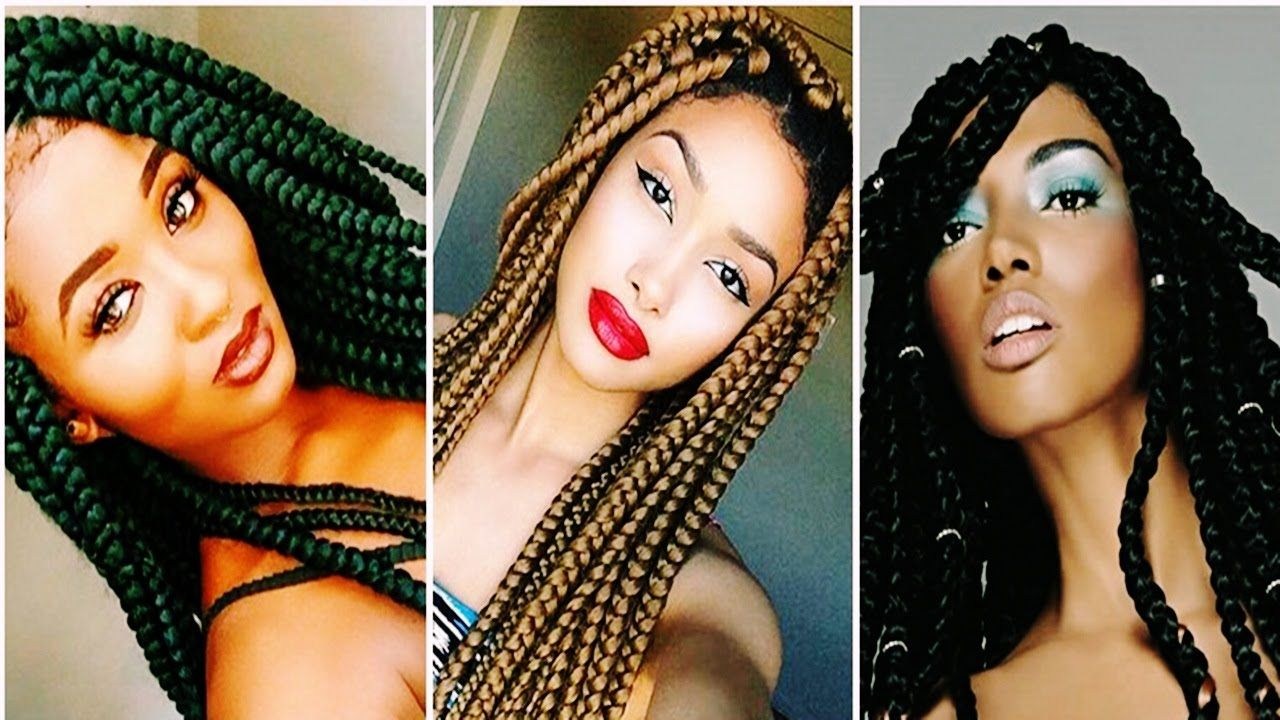 cool big box braids hairstyles for black women hairs