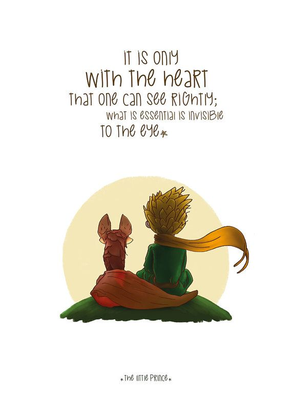 The Little Prince Poster Illustrations Typography Wall Hanging