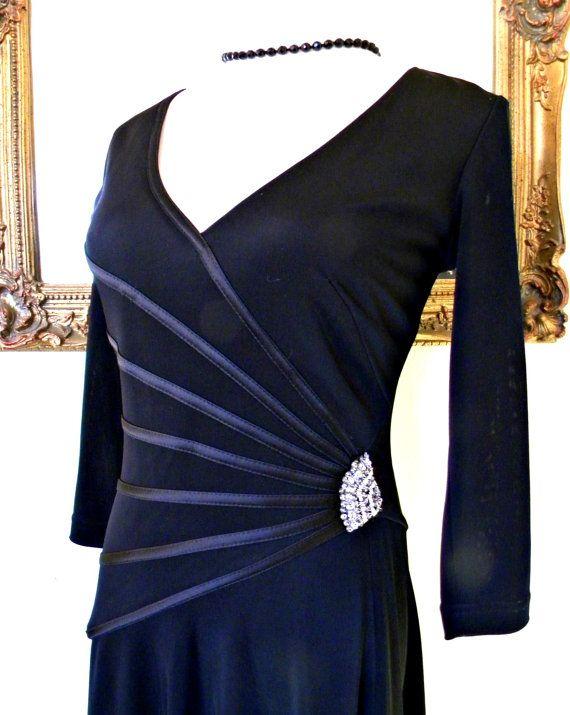 Tadashi Vintage LBD Little Black Dress Figure by HarlowesVintage