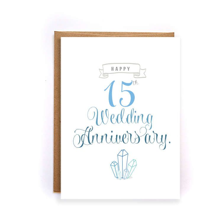 15th anniversary card crystal anniversary card for him