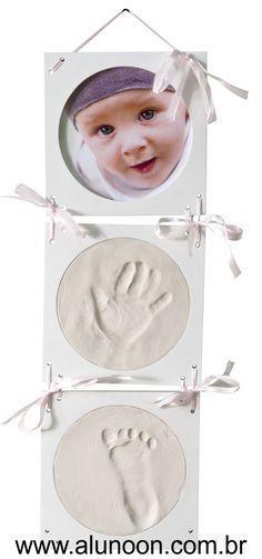 Molde de gesso caseiro do pé ou da mão de um bebê - Educação Infantil - Aluno On                                                                                                                                                                                 Mais