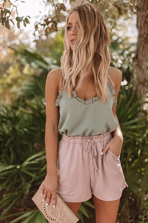 Bon Voyage High Waist Shorts In Blush