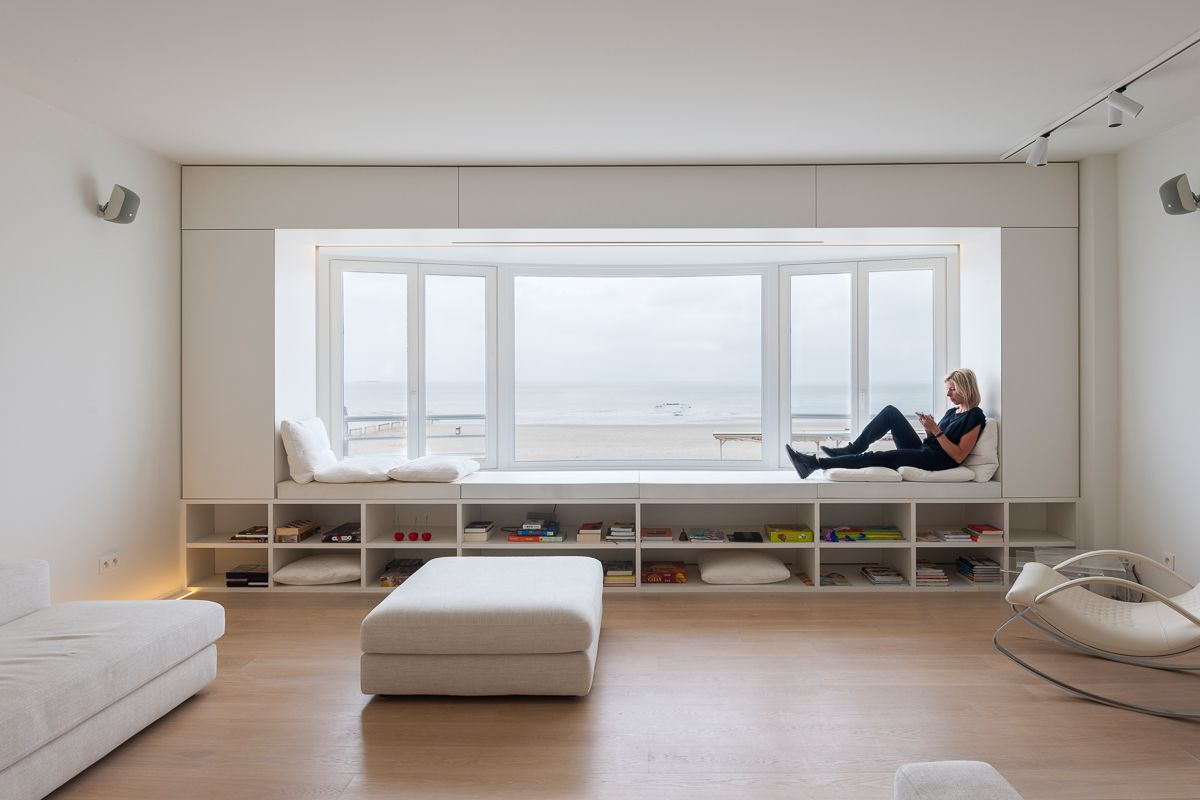 Interiordesign Loftappartment Knokke, By Sculp[IT]architects, Intelligent  Furniture, Open Space. Foto: Luc Roymans