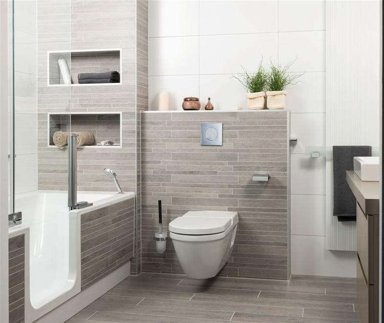 tegels in natuurlijke kleuren in de badkamer - Badkamer | Pinterest ...