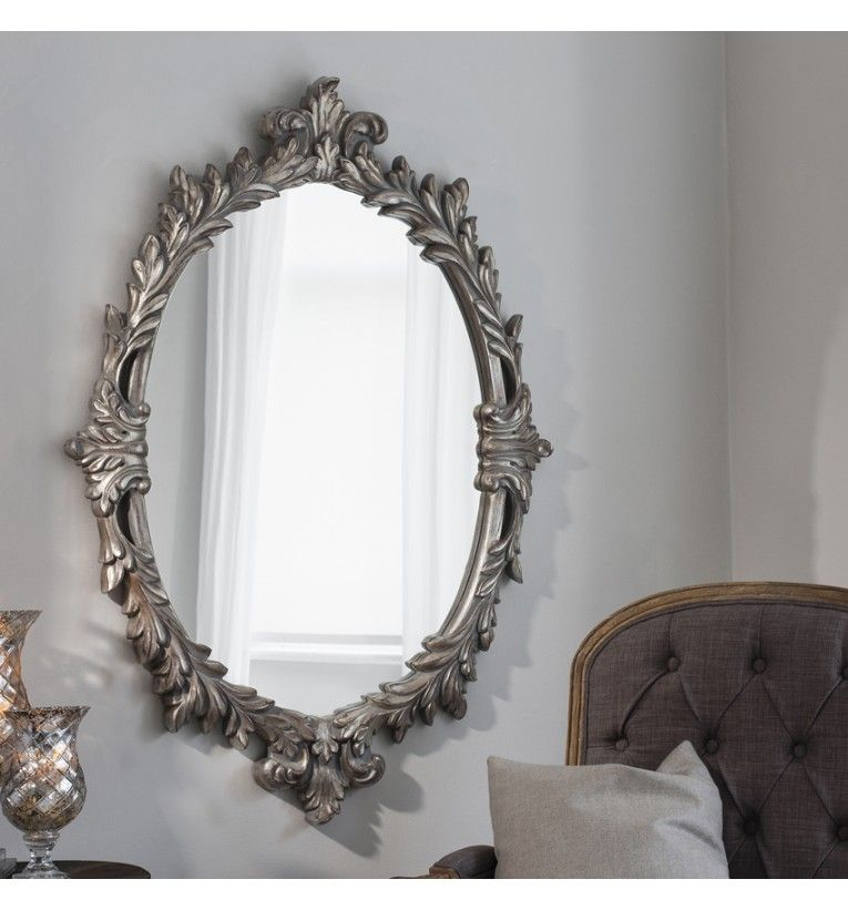 Silver Wall Mirrors silver ornate wall mirror now on our website www