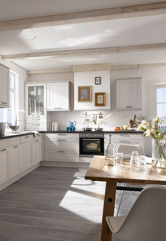 Helle Kuche Maritimer Style Moderne Weisse Kuchen Kuche L Form Landhauskuche