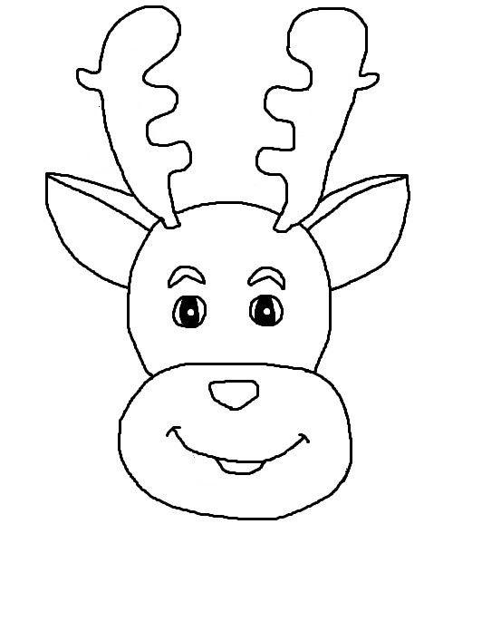 R sultat de recherche d 39 images pour dessin tete de renne noel pinterest dessins t tes - Dessiner un renne ...