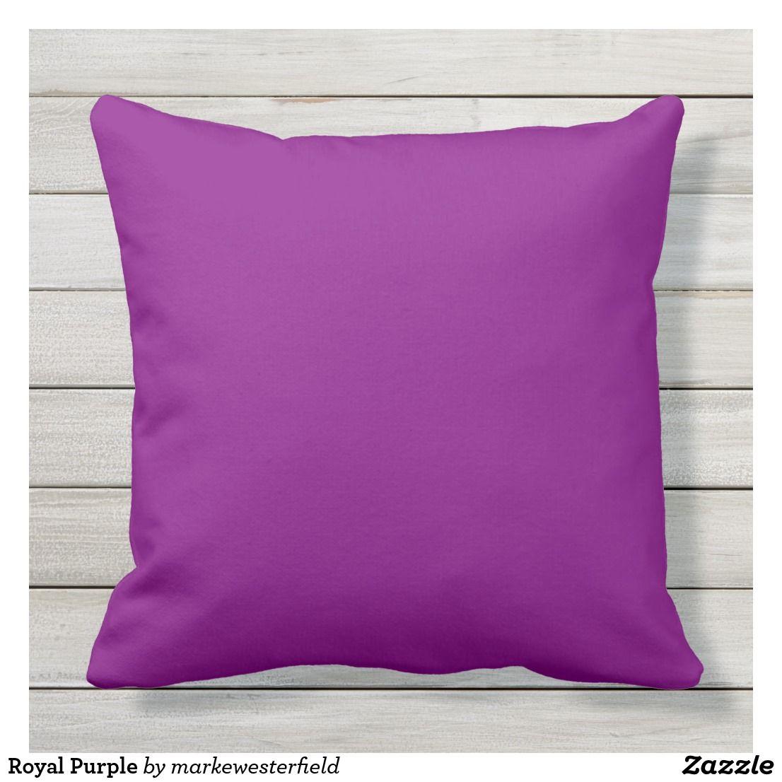 Royal Purple Outdoor Pillow Zazzle Com Pillows Outdoor Throw