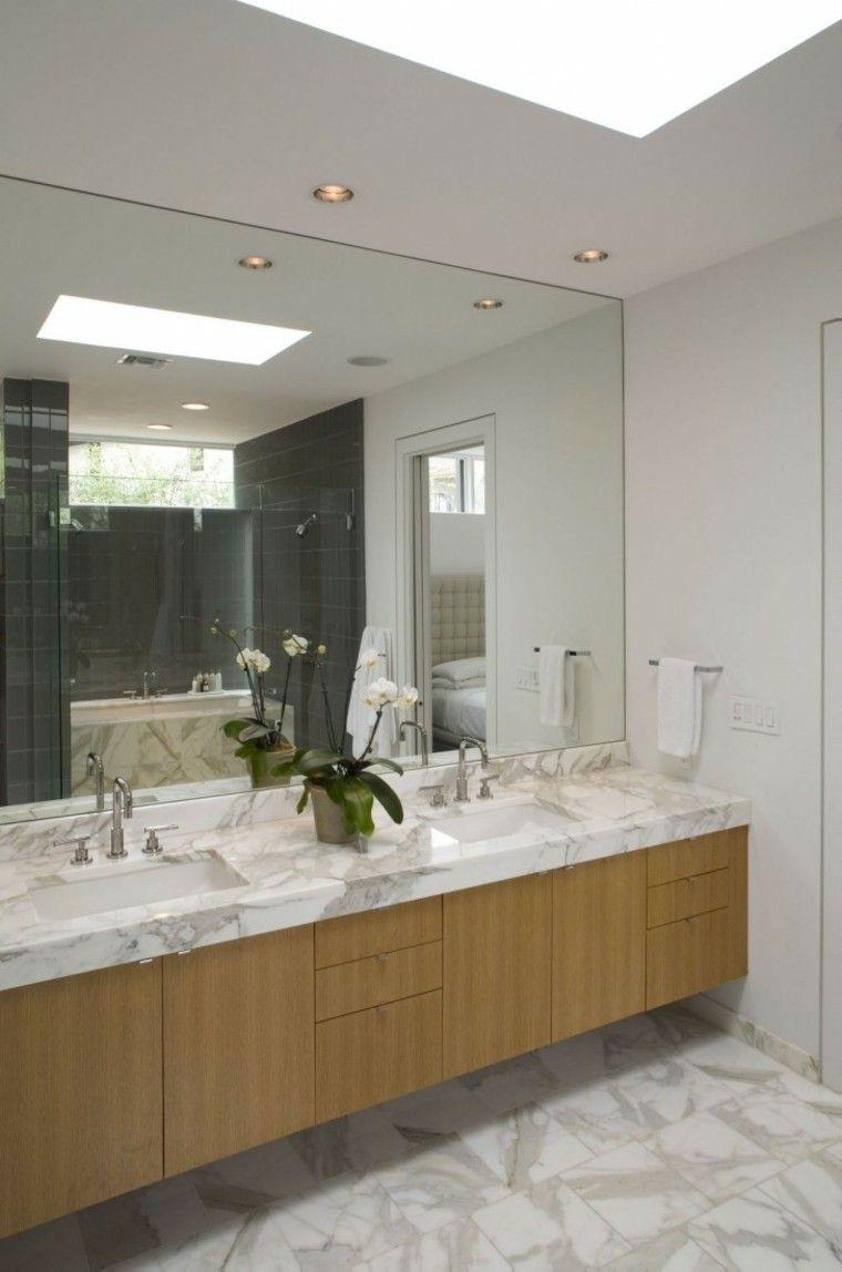Decoraci n de interiores modernos en gris y blanco ba os - Banos grises ...