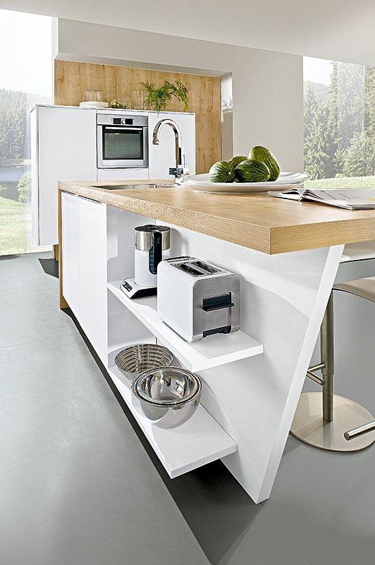 Theke Küche Ada Weiss Hochglanz Einrichtung Pinterest Garden - küchenzeile weiß hochglanz
