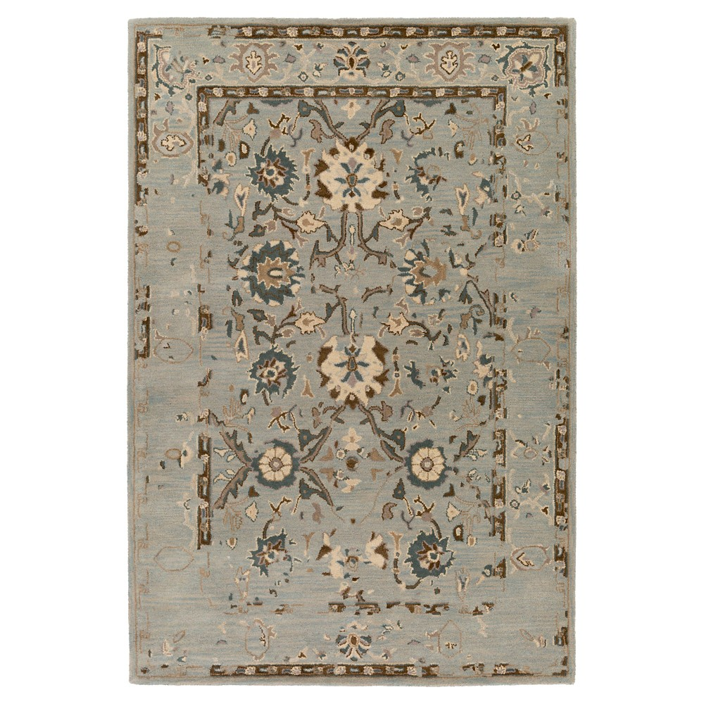 Medium Gray Abstract Tufted Area Rug - (4'x6') - Surya