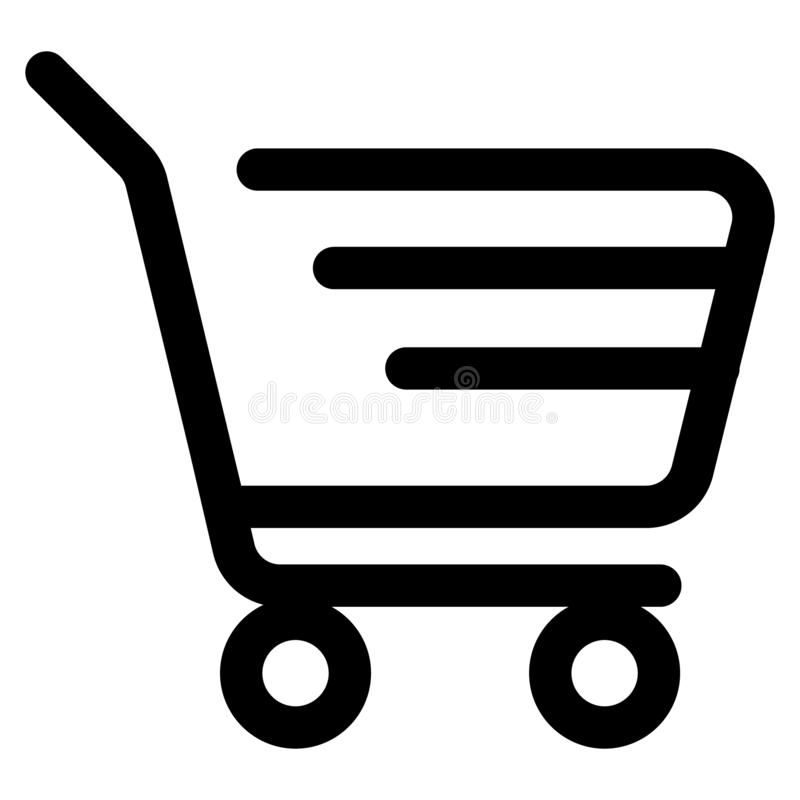Illustration About Shopping Cart Icon Illustration Isolated Vector Sign Symbol Vector Black And White Illustration Of Cart Icon Icon Illustration Work Icon