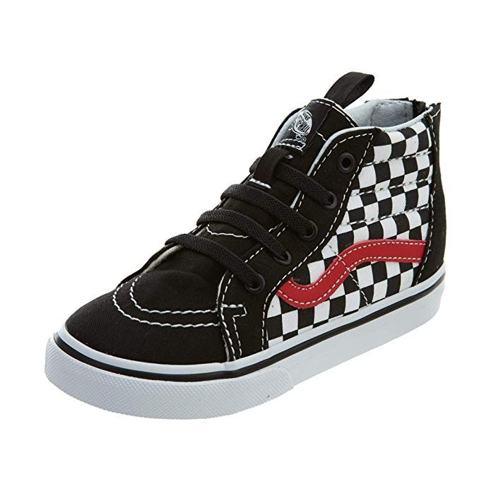 b3ebef3f8e693 Vans Sk8-Hi Zip (Checkerboard) (Toddler) Review | Baby | Vans sk8 ...