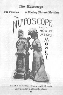 Mutoskooppi - flipbookin periaatteella toimiva Edisonin kinetoskooppia simppelimpi laite