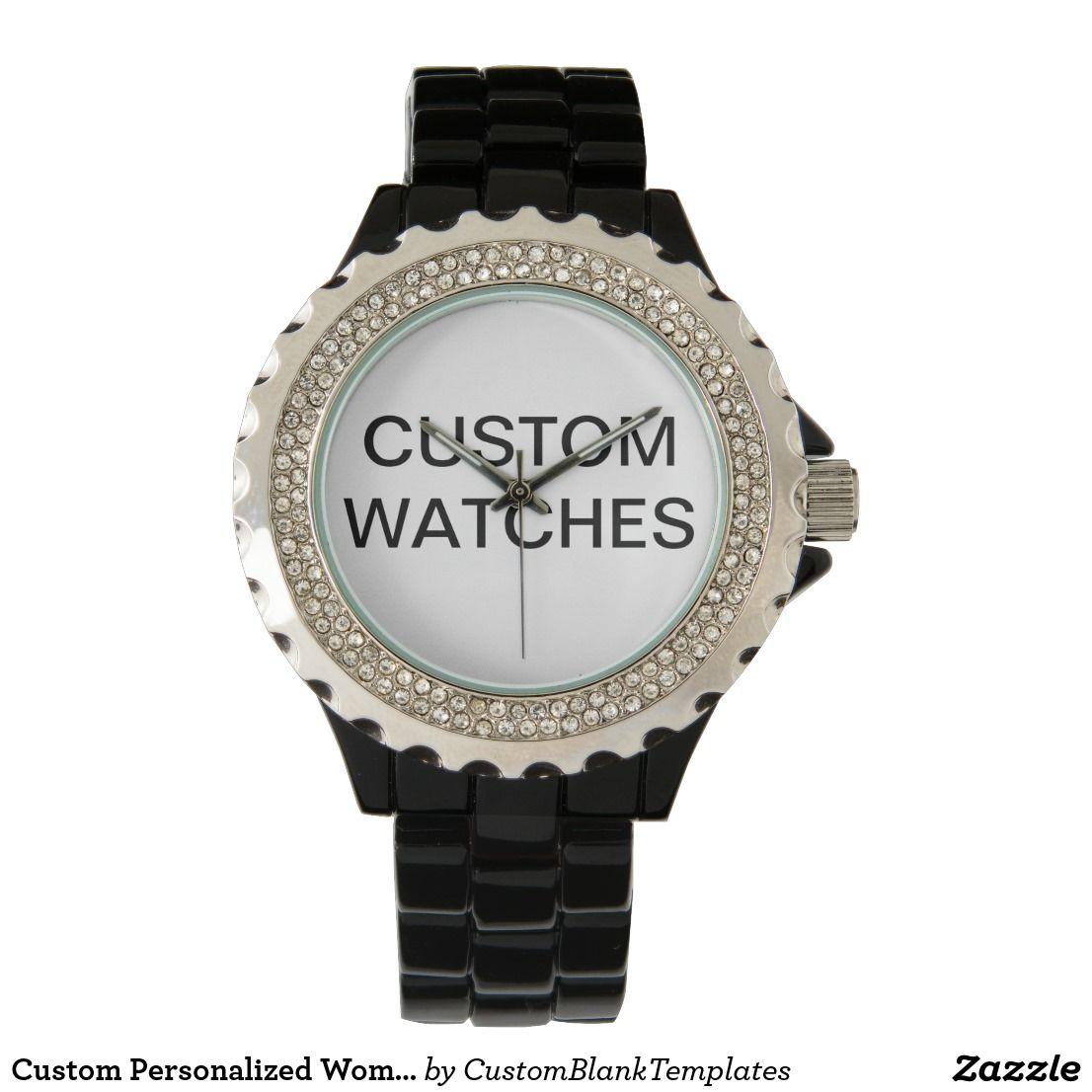Custom Personalized Woman's Rhinestone Watch Blank
