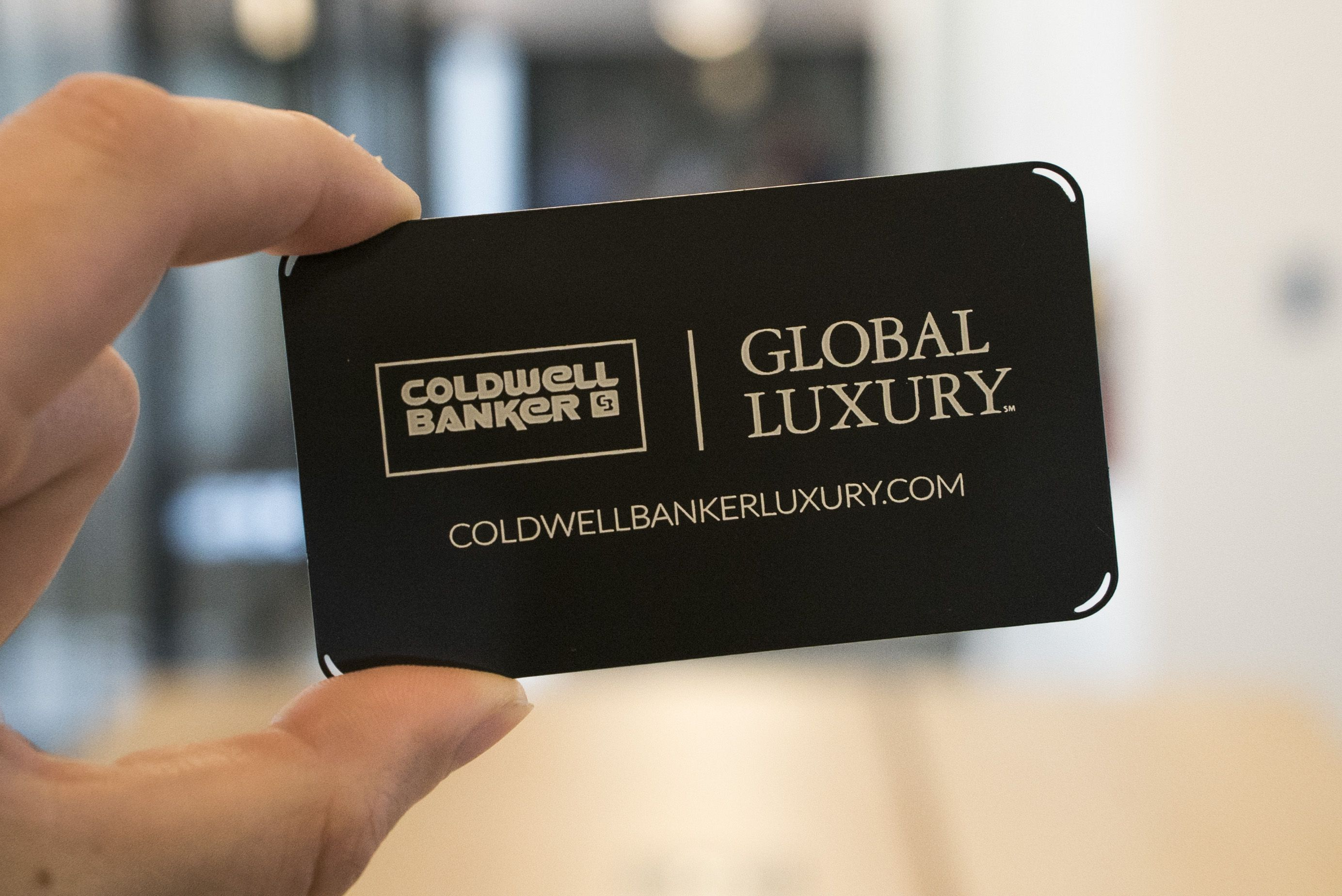 Custom Metal Business Card For A Luxury Real Estate Agent With Coldwell Banker Metal Business Cards Luxury Real Estate Agent Realtor Business Cards
