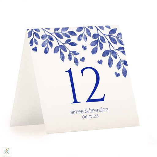 table number template hearts branches tent distressed royal