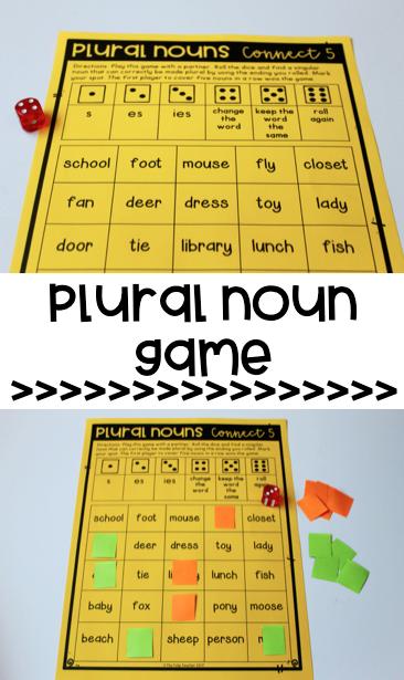 Singular and Plural Noun Games and Quiz | Plural nouns, Language ...