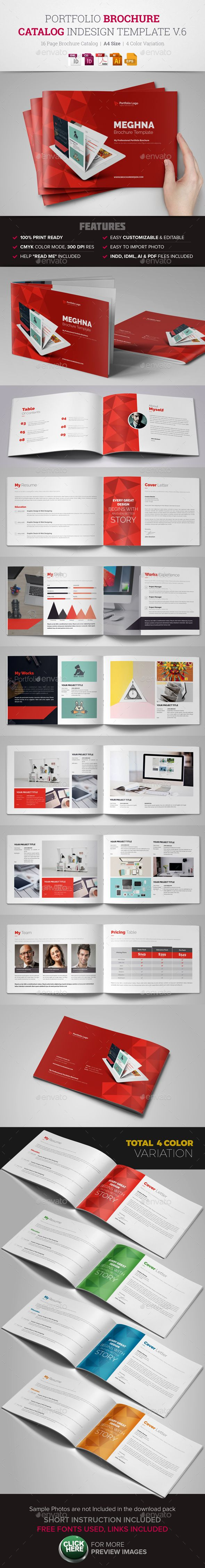 Portfolio Brochure InDesign v6 | Diseño editorial, Composición y ...