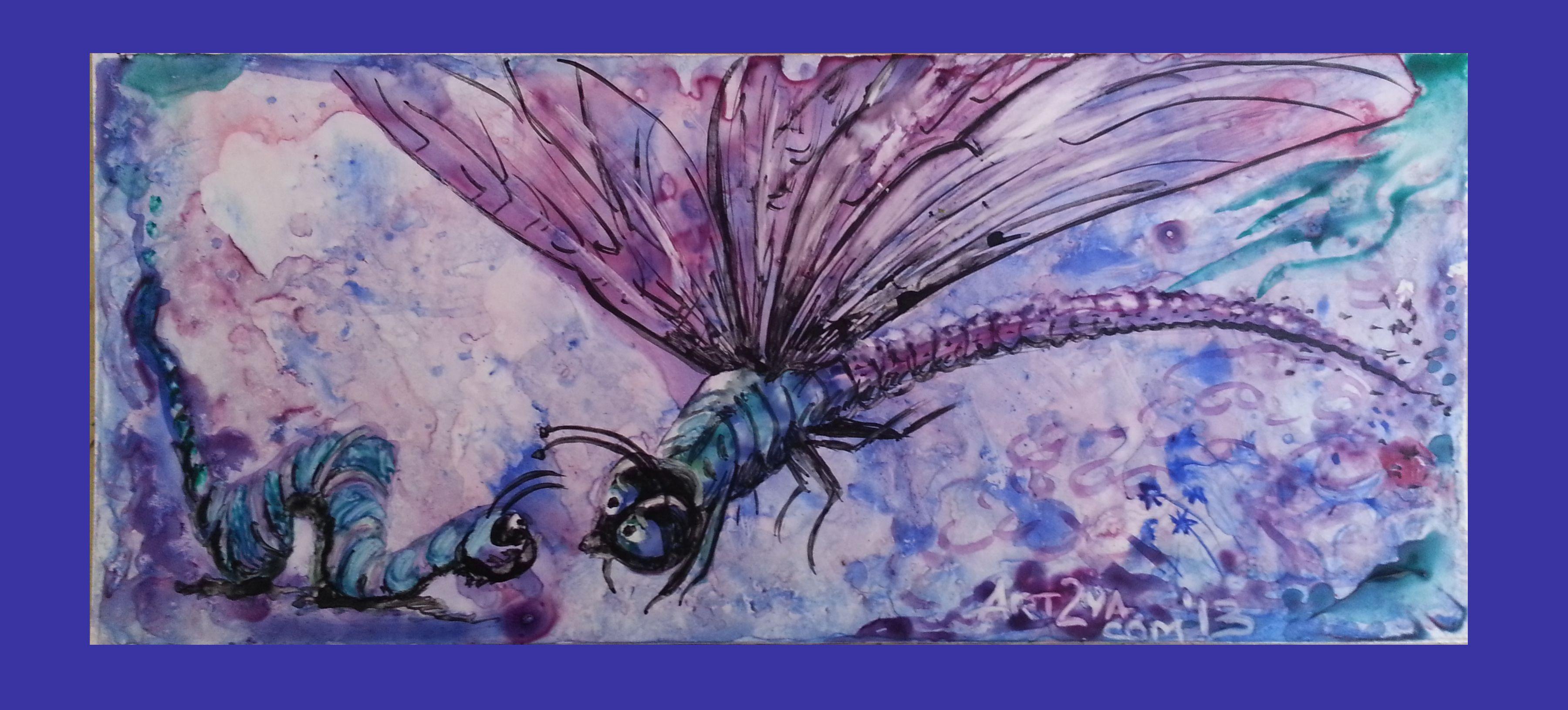 #4 Yupo Dragonfly meets Catterpillar