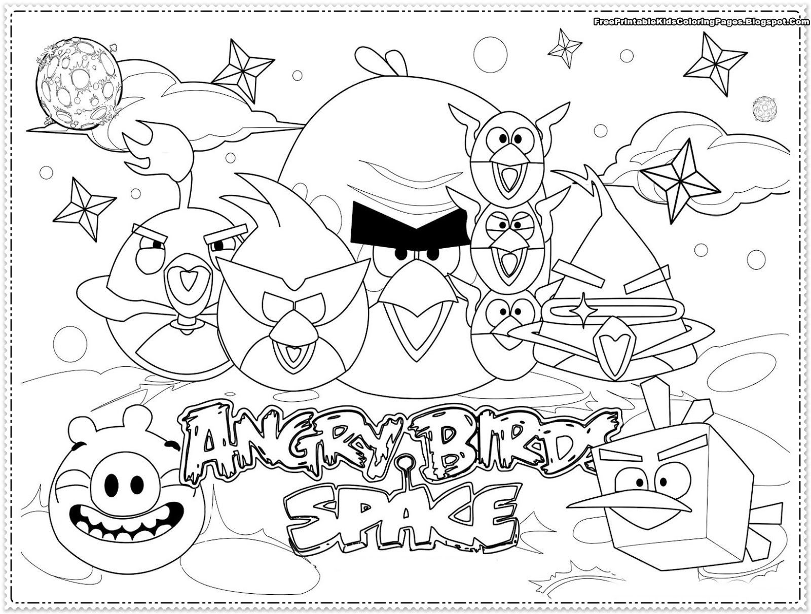 Angry Birds Coloring Pages Space From The Thousands Of