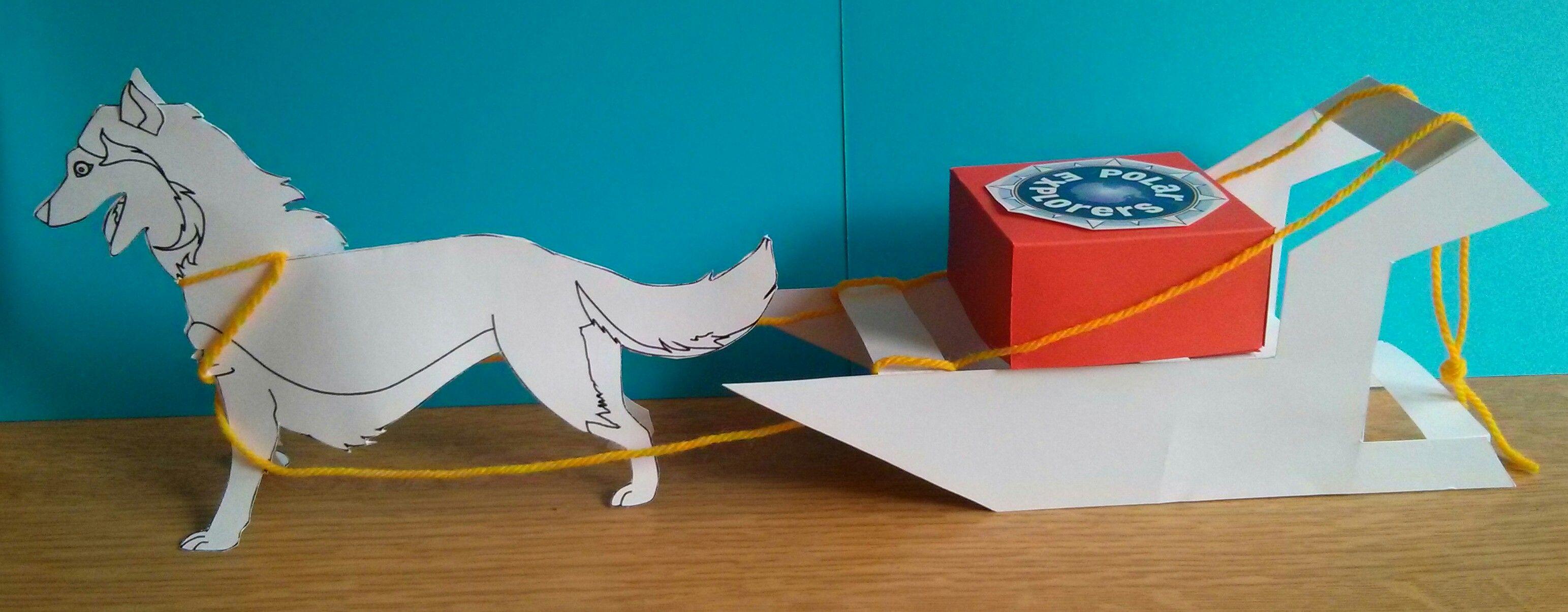 Dog Sled Craft - Children Colour Decorate '